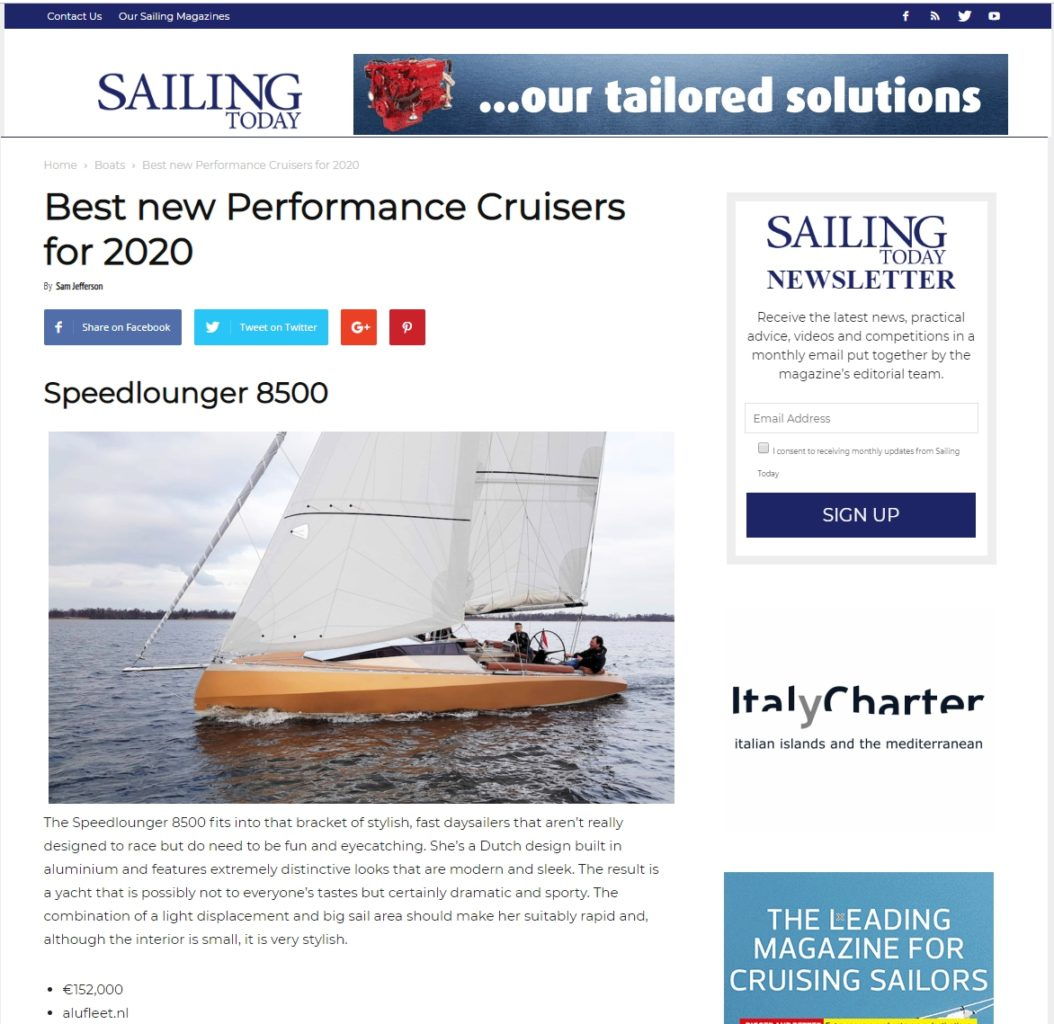 Sailing today Speedlounger